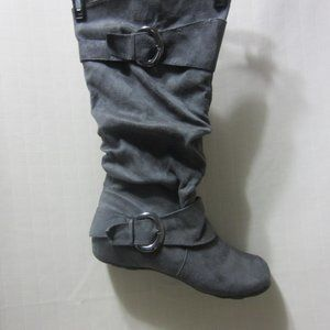 JOURNEE COLLECTION, SZ 11, SOFT GRAY BOOT